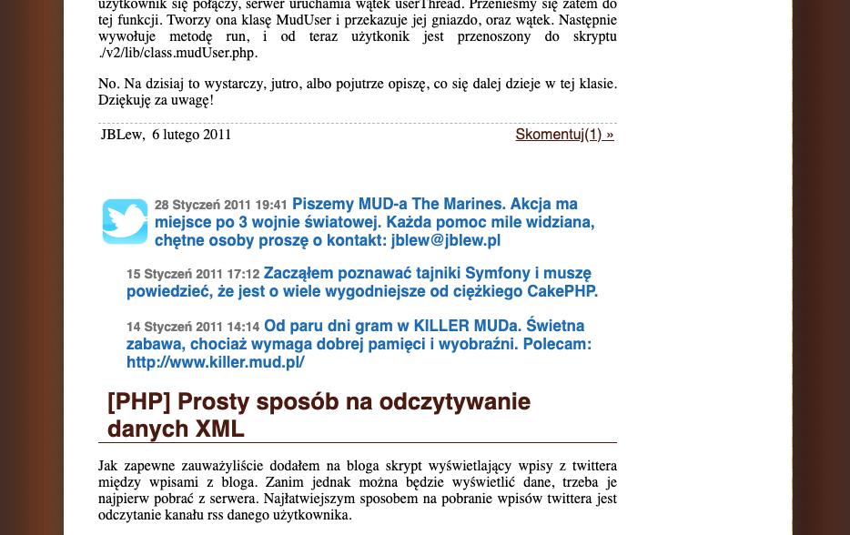 Tweety na jblew.pl